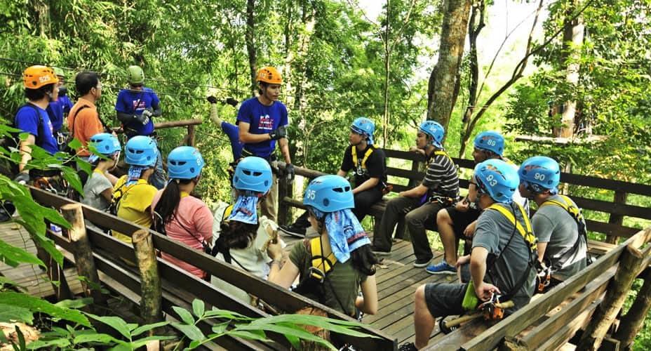safety staff eagle track zipline adventure