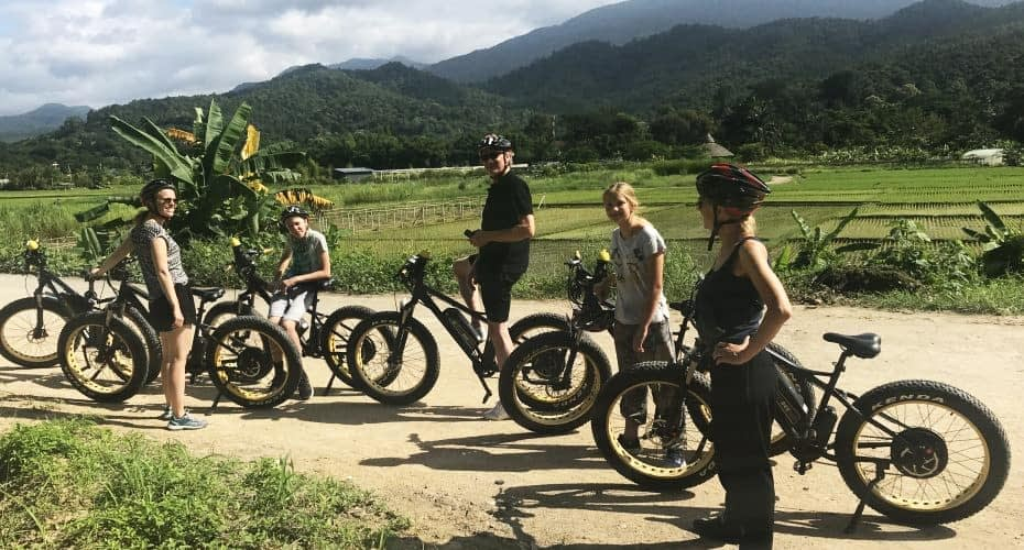 bicycle trip from chiangmai to ping river