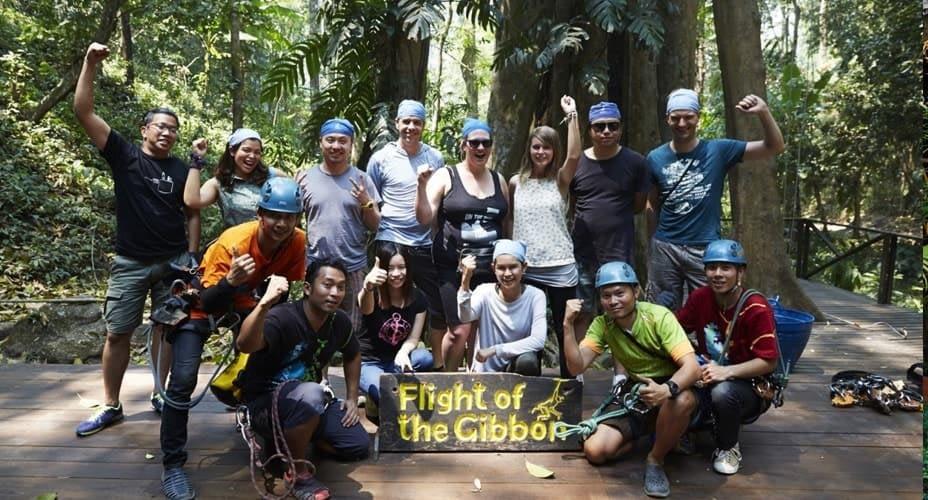 zipline flight of the gibbon chiang mai tours