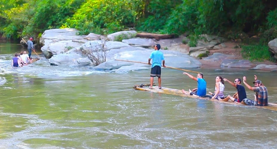 mae wang bamboo rafting adventure