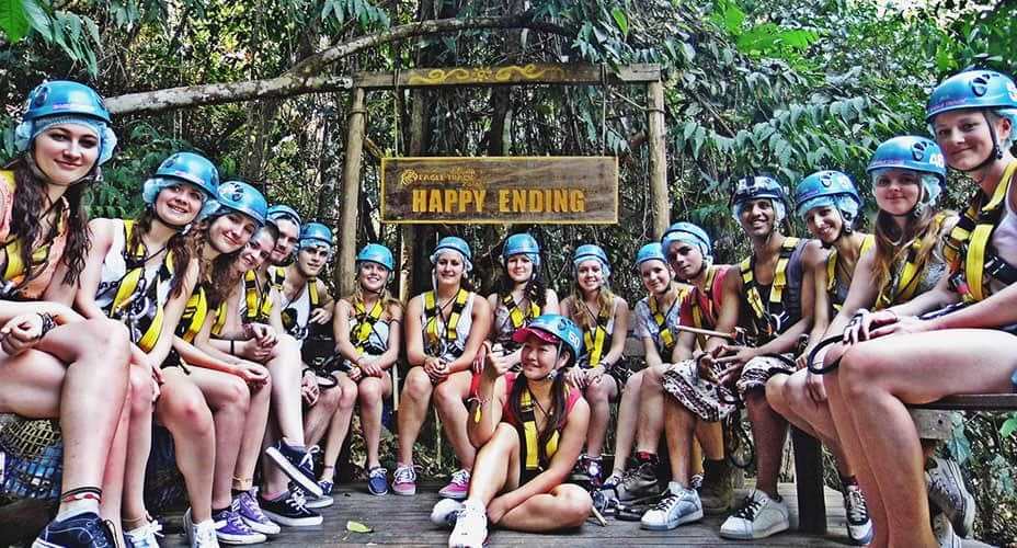 happy ending at the eagle track zipline chiang mai